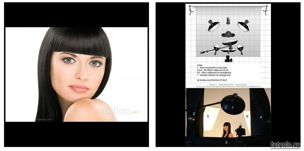 Схемы света для фотосессии в фотостудии - Фото №1065