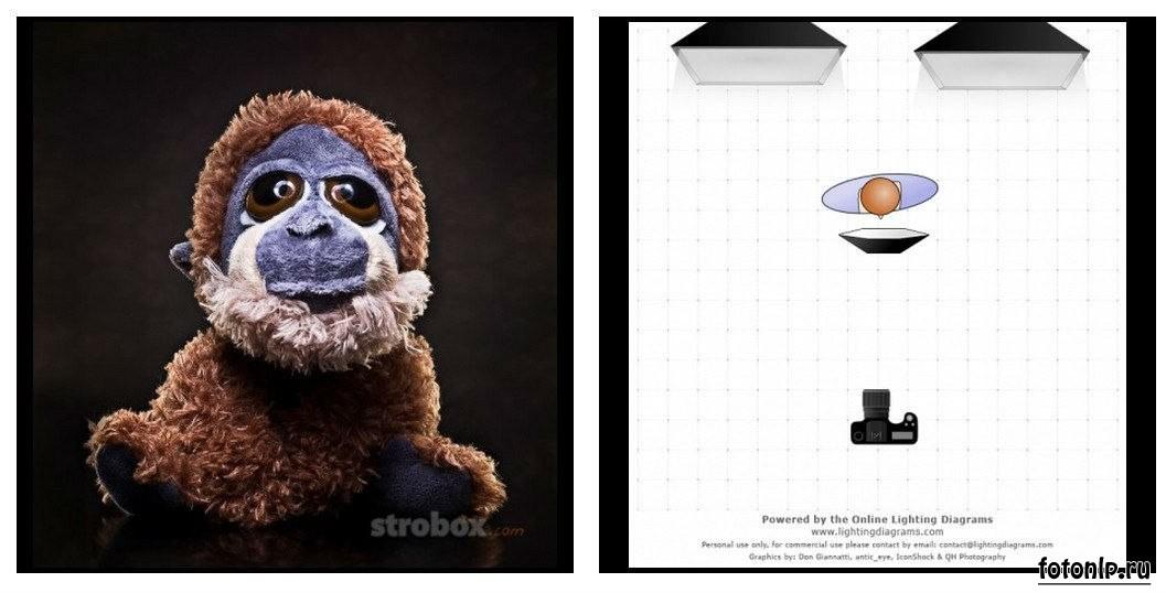 Схемы света для фотосессии в фотостудии - Фото №982